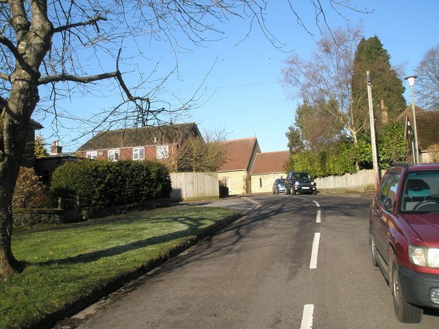 Looking up Meadway towards the B2131
