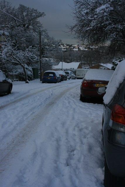 St Luke's Rd: snow