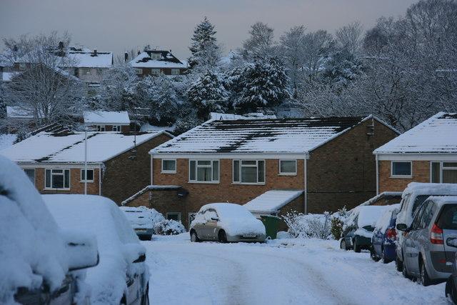 St David's Rd: snow