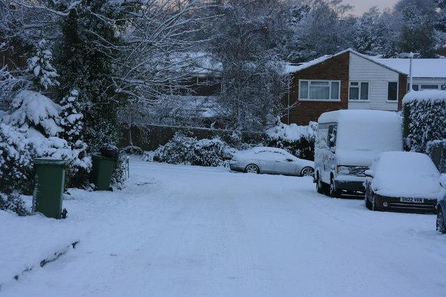 St Michael's Rd: snow