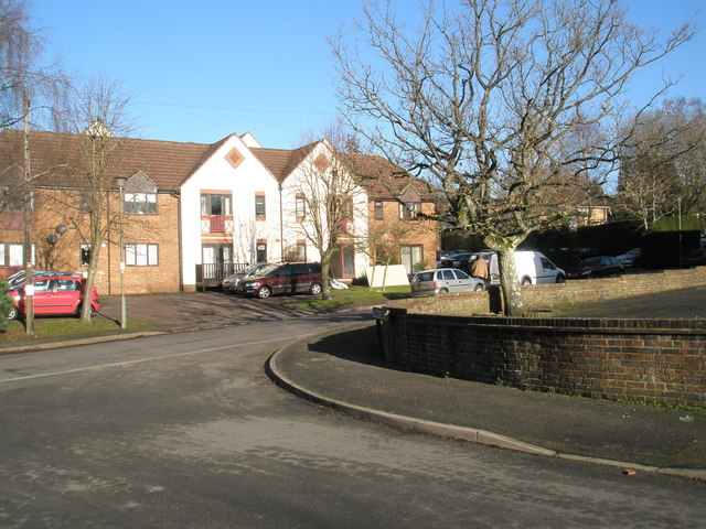 Looking from Timber Mill Court into Mead Way