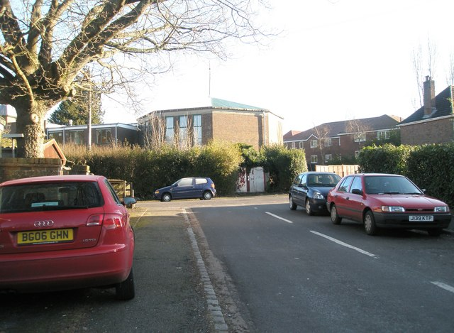 Looking from Mead Way towards Shottermill Methodist Church