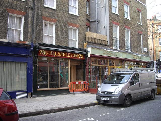 J Barley shop 73 Marchmont Street, Bloomsbury