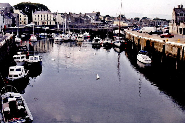 Castletown - Silver Burn River, quays, and harbour