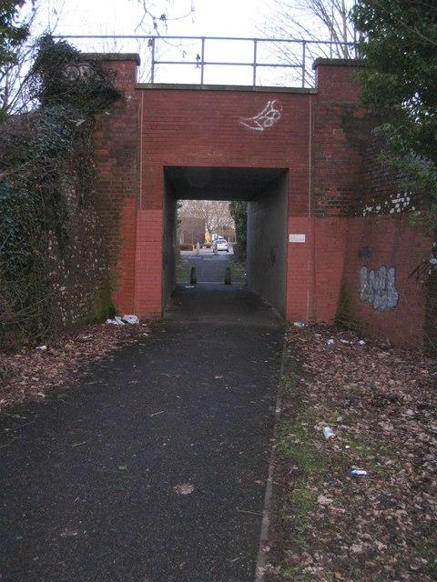 Path under railway