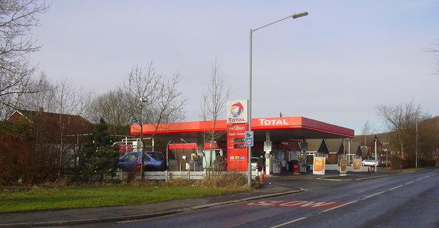 Total Petrol Station, Longsight Road, Holcombe Brook