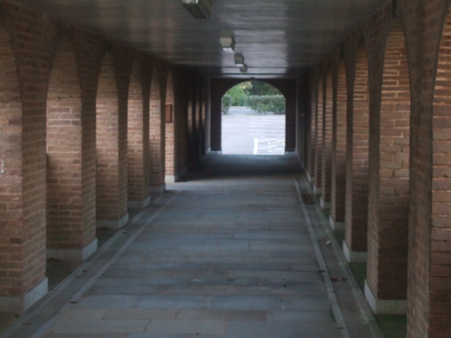 Covered arcade at County Hall, Exeter