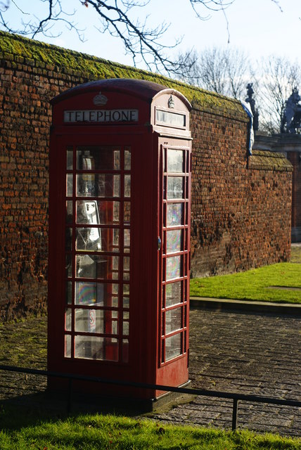 Telephone Box by Hampton Court Palace