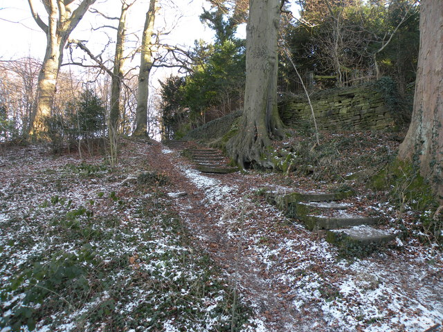 Old and Worn Steps Leading to Croxdale Hall