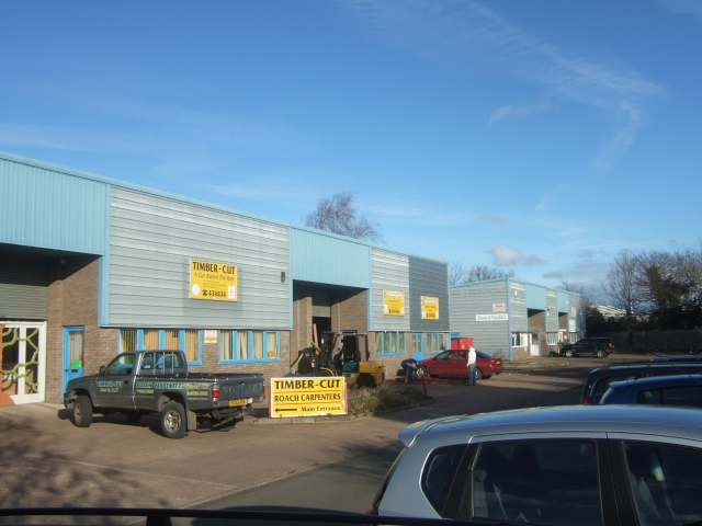 Small business buildings on Marsh Barton Industrial Estate