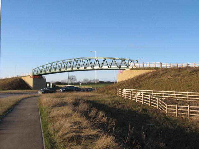 Bridleway bridge over A66 Darlington
