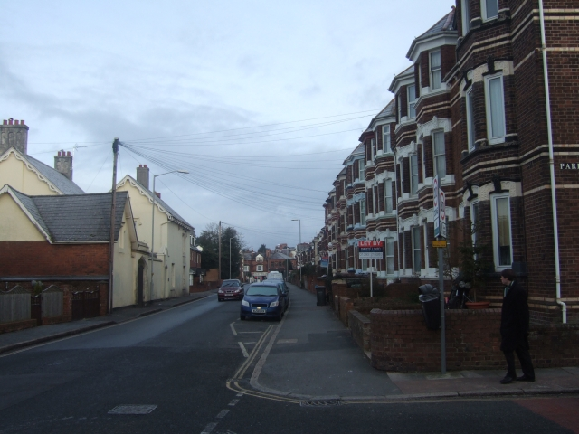 The north end of Polsloe Road, Exeter