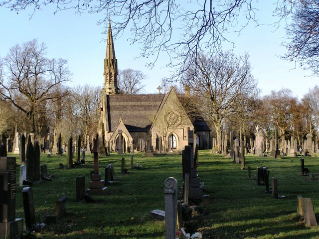 The chapel, Bury Cemetery