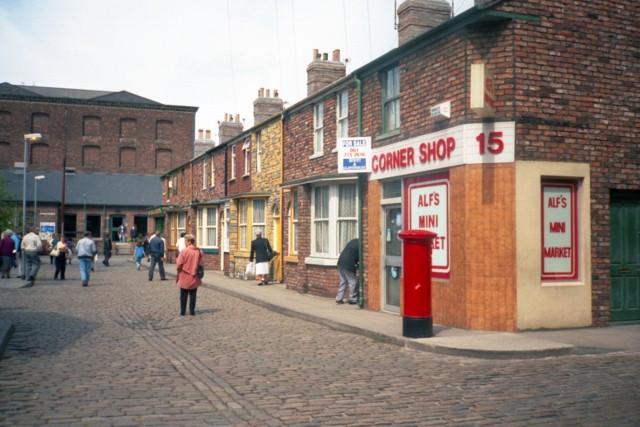 Coronation Street outdoor set