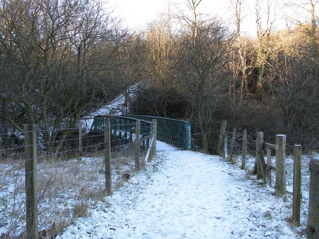 Footbridge over the Rotten Calder