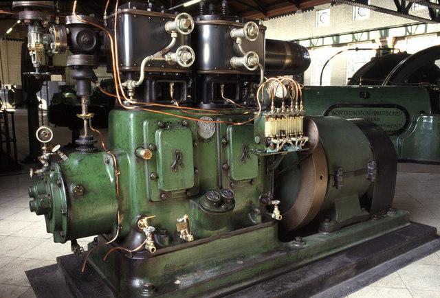 Steam dynamo set, Littleton Pumping Station