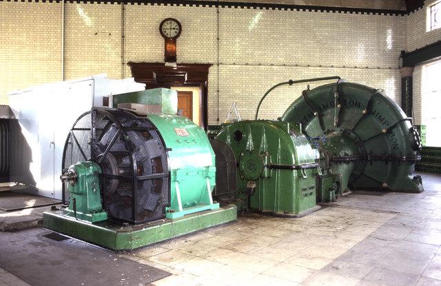 Motor driven pump, Littleton Pumping Station
