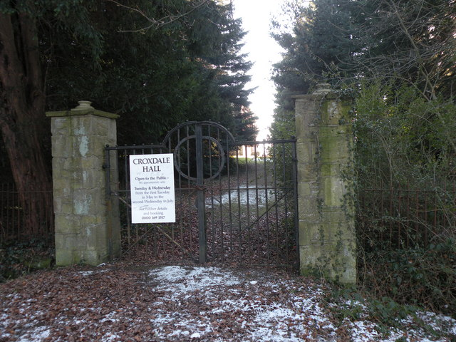 The Front Gate to Croxdale Hall ( Now disused )