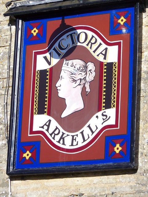 Sign for the Victoria Inn