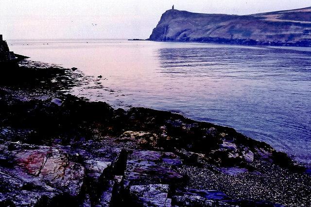Port Erin - Port Erin Bay and Bradda Head in evening