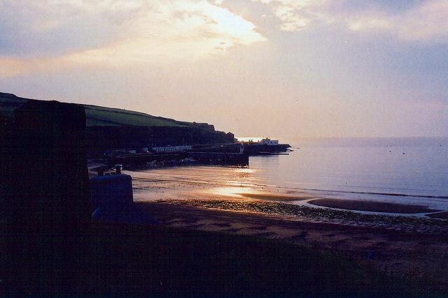 Port Erin - Sunset along south shore of Port Erin Bay
