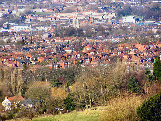 View from Werneth Low, over Gee Cross