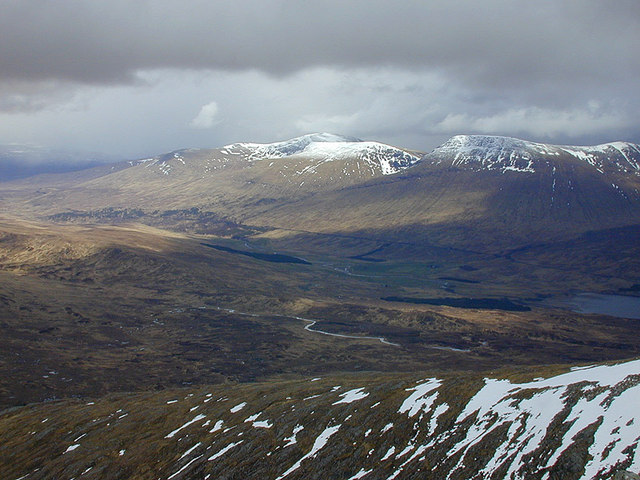 View east from Stob a' Choire Odhair