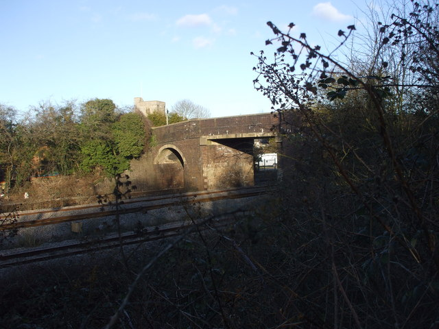 Bridge over the railway, Magor