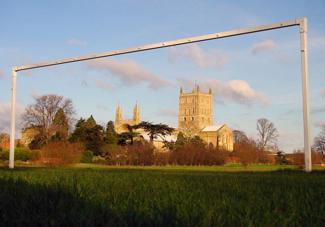 Tewkesbury Abbey From Playing Fields