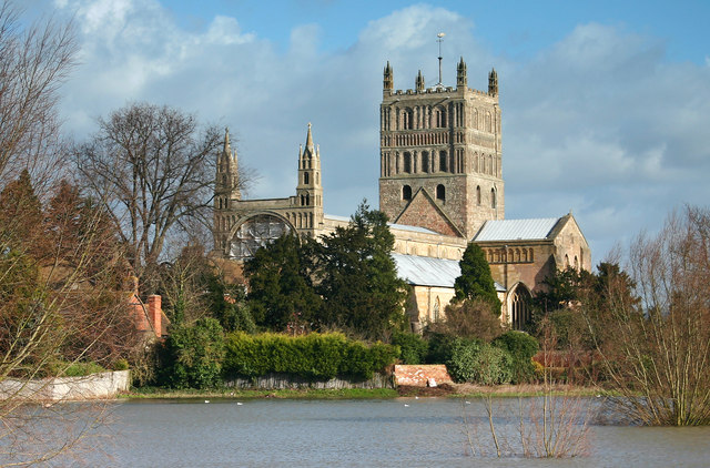 Tewkesbury Abbey Flood Plain