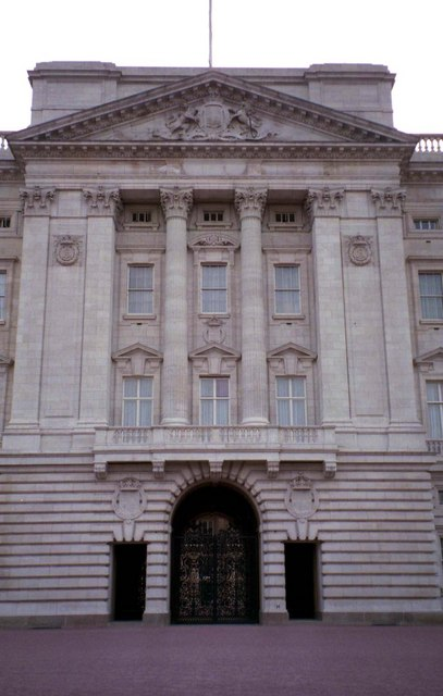 The front entrance in Buckingham Palace