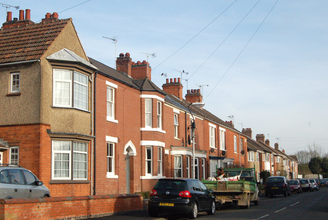 North side of Benn Street, Rugby