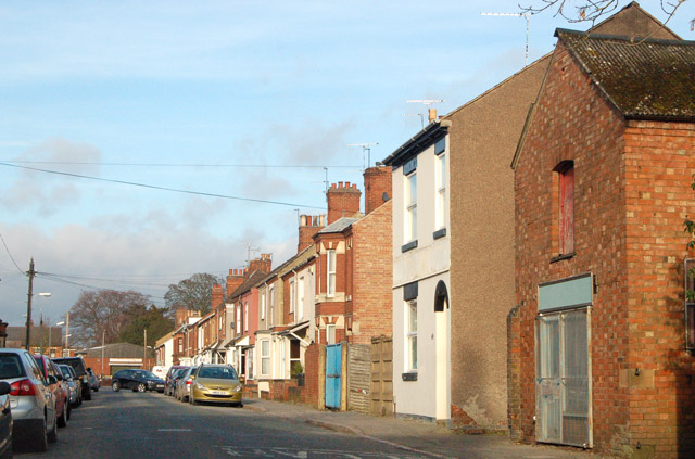 Looking north along Temple Street, Rugby