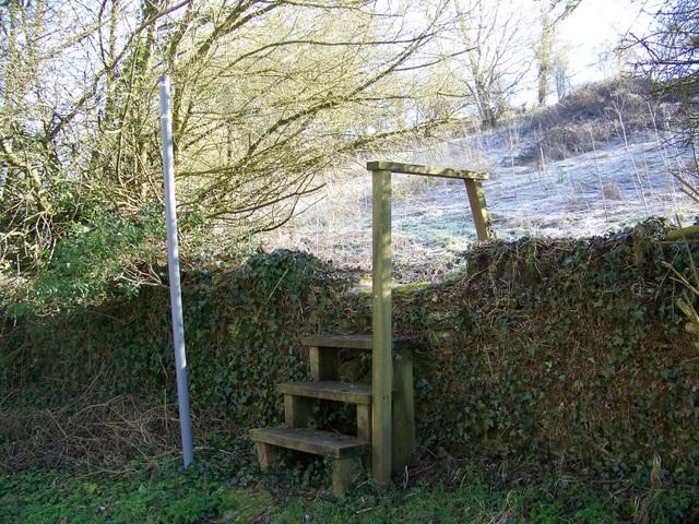 Steps near Eastleach Martin
