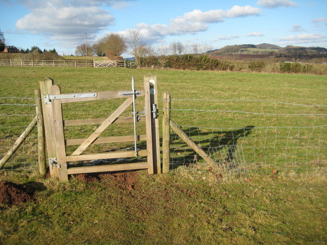 Gate on the Worcestershire Way