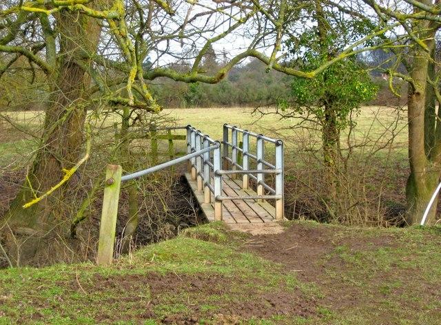 Footbridge over a brook