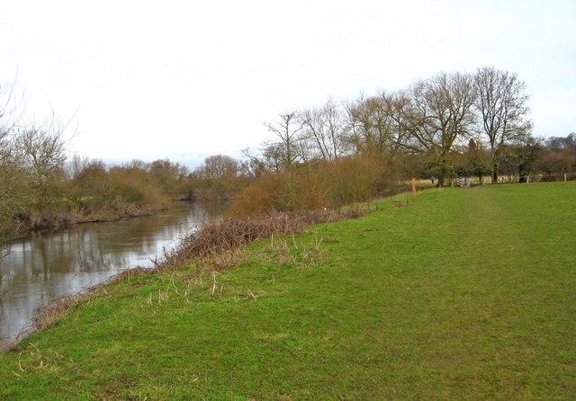 Riverside scene by the Severn