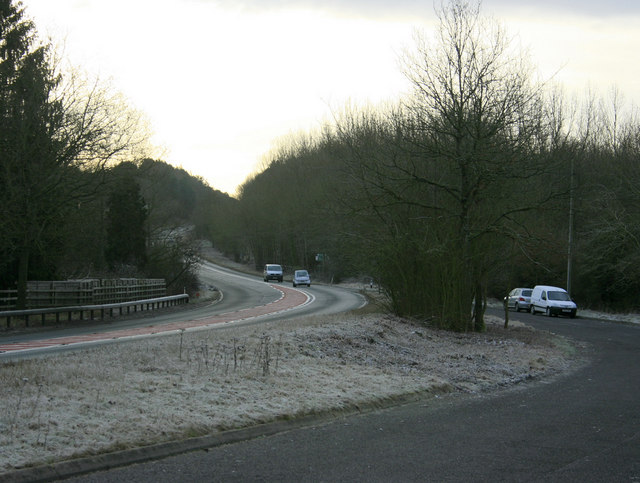 2010 : A36 passing a layby at the bottom of Black Dog Hill