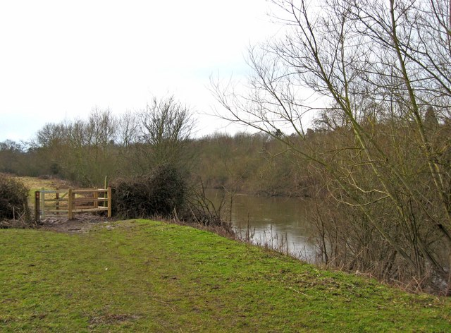 Kissing gate by the River Severn