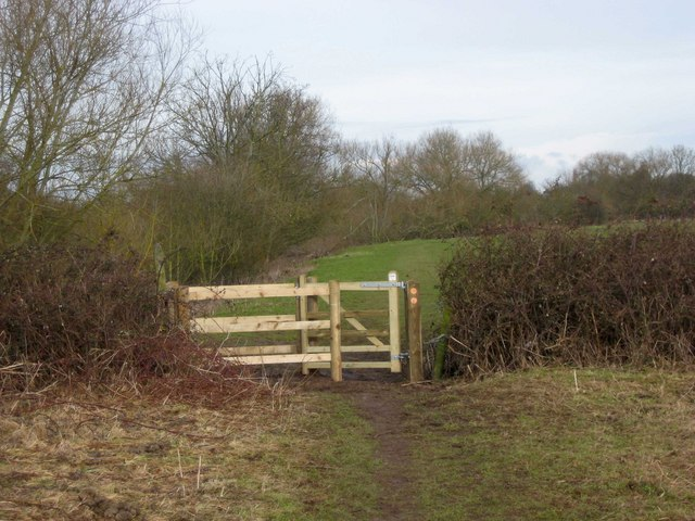 Kissing gate entrance to field