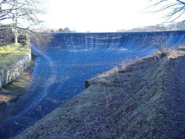 Overflow from Abbeystead reservoir