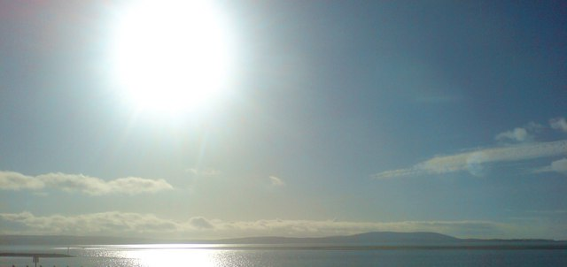 View across the estuary to the Gower Peninsula