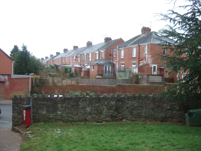 The backs of houses in Ladysmith Road, Exeter