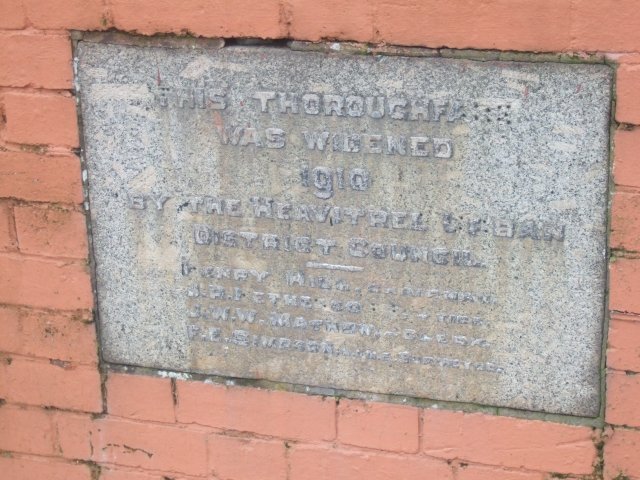 Plaque in Heavitree North Road