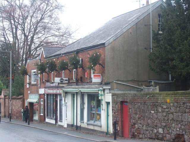 A row of shops, Magdalen Road, Exeter