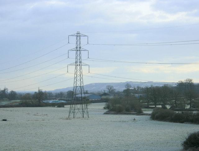 2010 : Frosty field and pylon