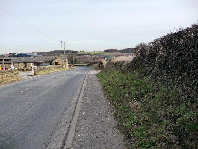 View down Bretton Lane, by Birch Laithe Farm