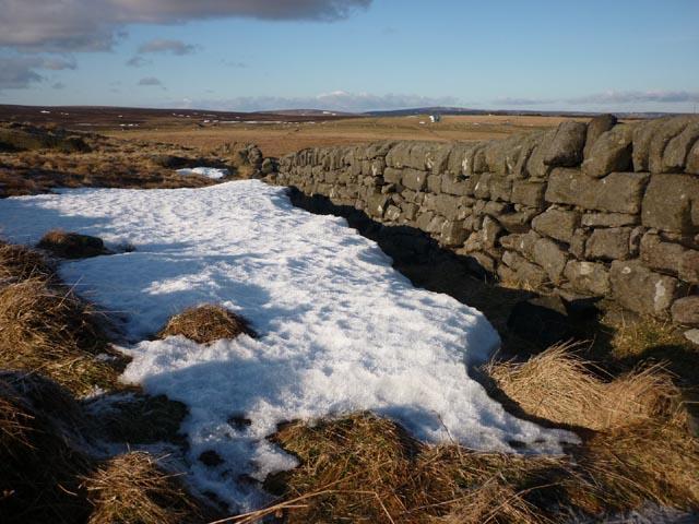 Dry stone wall, Bride Stones Moor