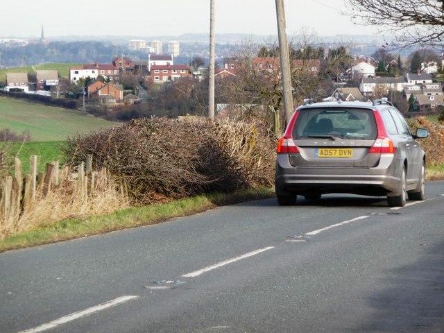 Car heading towards Wakefield on Bretton Lane