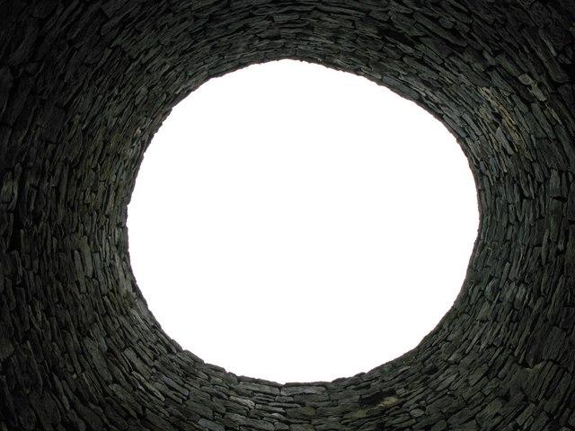 Inside the southern lead smelting flue chimney